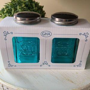 🆕 Modern Retro Vintage Jar Salt Pepper Shaker Set